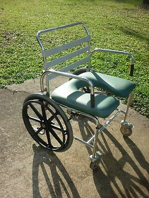 Otto Bock Shower Chair Commode On Wheels Extra Wide Vgc P/u Yatala 4207