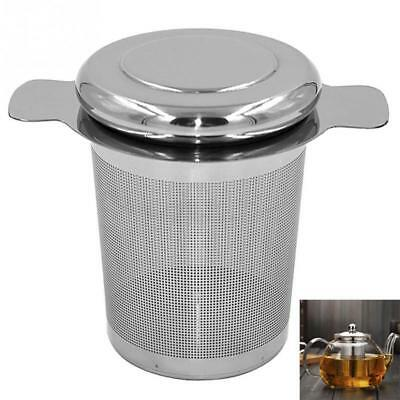 Reusable Stainless Steel Tea Infuser Basket Fine Mesh Tea Strainer with 2 Handle