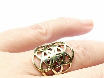 Brass Seed Of Life Sacred Geometry Ring