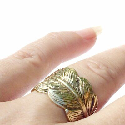 Brass Eagle Feather Ring