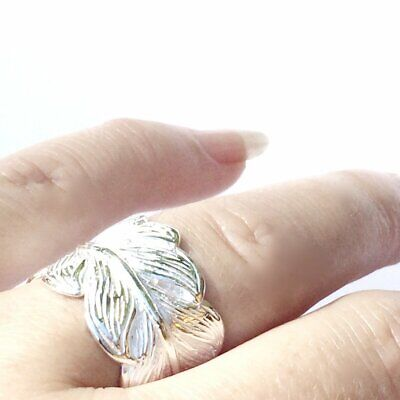 Silver Eagle Feather Ring