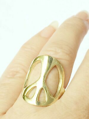 Brass Peace Ring