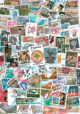 World, Kiloware,Collection lot of 1000 worldwide stamps, Off paper,mint,used #33