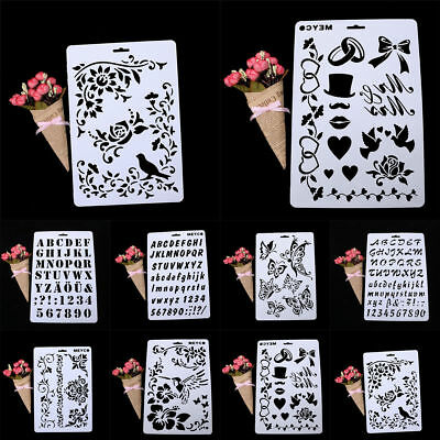 Layering Stencils Painting Letter Alphabet Number Scrapbooking Paper Cards Craft