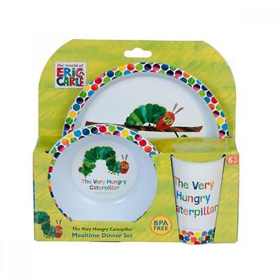 New The Very Hungry Caterpillar Dinner Set 3pc - Plate, Bowl & Cup