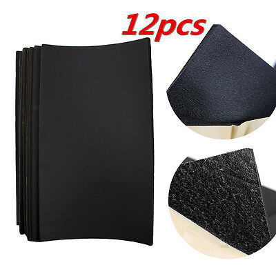 12 Sheets 10mm Car Auto Van Sound Proofing Deadening Insulation Opened Cell Foam