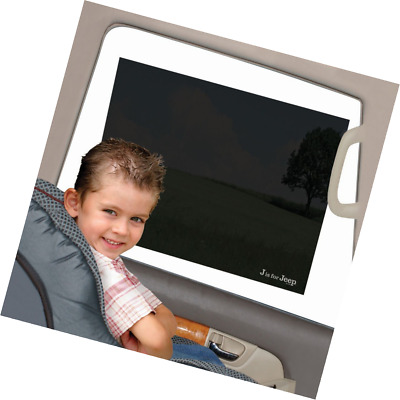 Jeep Car Sun Shade, Static Cling, Pack of 2, Black, Baby Car Seat Window Shade,