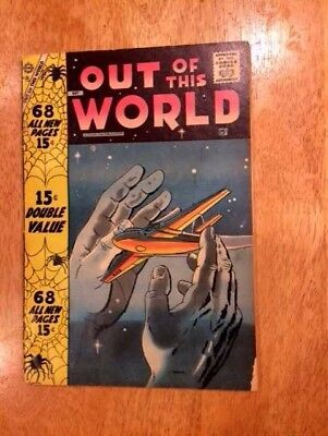 OUT of This WORLD #8 (May 1958 Charlton) 68 pages  Ditko art in 2 Stories!