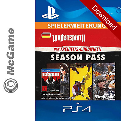 Wolfenstein II 2 The New Colossus Freedom Chronicles Season Pass | PS4 Code PSN