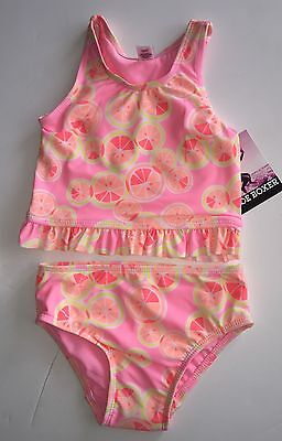 Joe Boxer Infant Girl's  Pink Peach Tankini Swimsuit Top & Bottoms 18 months NWT