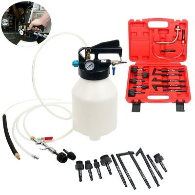 6L Pneumatic ATF Oil Liquid Extractor with 14pc ATF Adapters / Refill System Kit