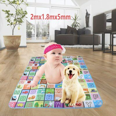 Baby Kids Play Mat Floor Rug Picnic Cushion Crawling Mat Travel 2mx1.8mx5mm FDE