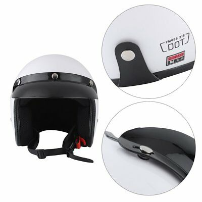 3/4 Open Face Helmet Motorcycle Motorbike Adult Harley Cruiser Scooter As1698 Vc