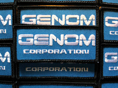 "Genom Corporation Patch 1.5"" x 3.5"" cosplay inspired by Bubble Gum Crisis anime"