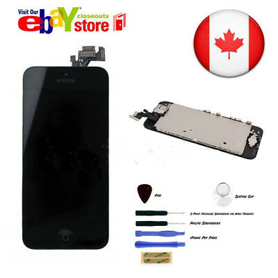 For iPhone 5 Full LCD Display Touch Screen Digitizer Assembly black Replacement