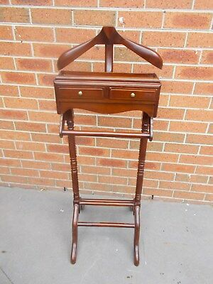 Timber Victoriana 2 Drawer Valet Clothes Stand Holder