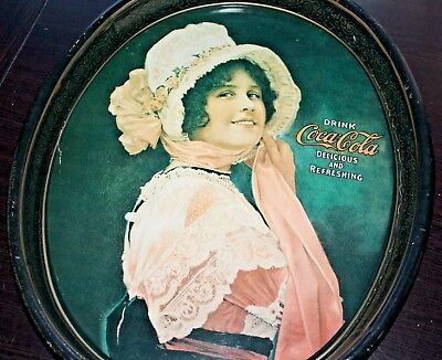 """Vintage 1914 """"BETTY GIRL"""" Coca Cola Tray 