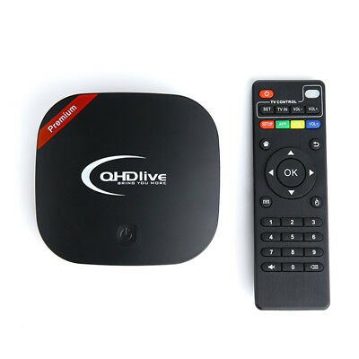 QHDlive Set Top TV Box IPTV support Global 2400+ Live Channels Free For 1 Years