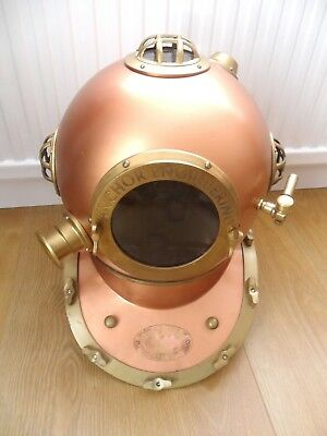 Full Size Reproduction metal + Brass Divers Helmet diver's diving bell