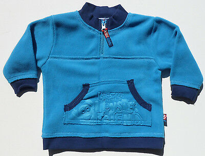 Size 00 - Bright Bots Long Sleeve Blue Fleece Pullover for Baby Boy