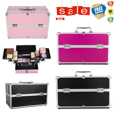 NEW Portable Makeup Case Carry Box Cosmetic Beauty Hairdressing Nail Organiser
