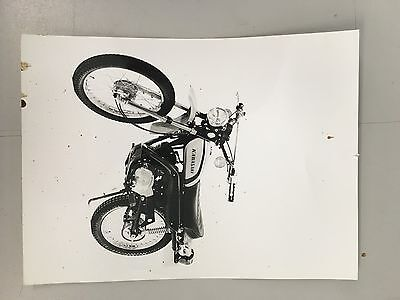 Kawasaki 100cc G5 Original advertising photo B&W