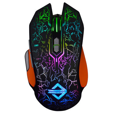Professional Wired Gaming Mouse LED Backlit Programmable Mice for Pro Gamer