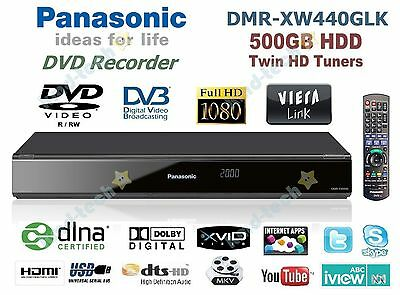 Panasonic High Definition Network Dvd Recorder 500Gb Twin Tuner Dmr-Xw440Glk ~ B