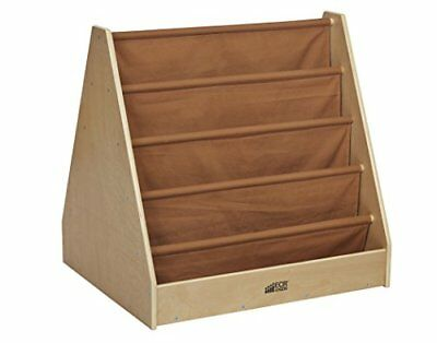 ECR4Kids Birch and Canvas Double-Sided Book Display