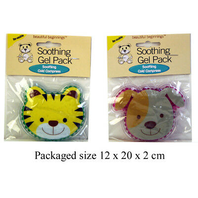 Brand New Kids Toddlers Cooling Gel Cold Compress Soothing Gel Pack Dog Tiger