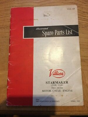 Villiers Starmaker Spare Parts List. Illustrated