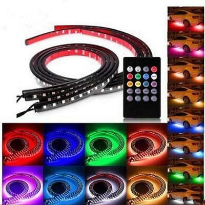 4x 8Color LED Strip Under Car Tube Underglow Underbody Music Neon Lights +Remote