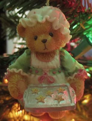 Cherished Teddies Ornament Girl Holding Tray Of Cookies