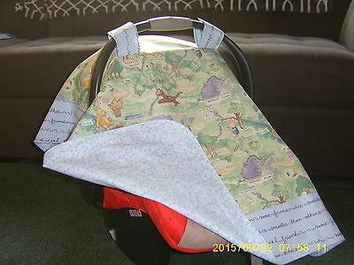 **WINNIE THE POOH**Holiday Special** Handmade Baby Infant Car Seat Canopy-Cover