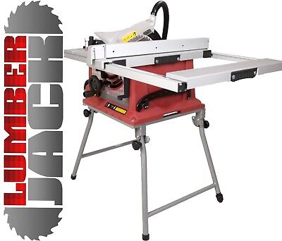 "Bench Table Saw with 10"" Blade Portable Mobile  Stand & Sliding Extension 240v"