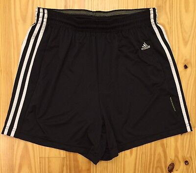 Kids Youth Adidas Equipment Black Running Athletic Jogging Shorts Size XL
