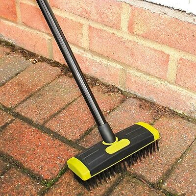 3 in 1 Telescopic Patio, Decking, Driveways and Paths Brush Set (Weed Remover)