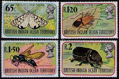 B.I.O.T. ~ 1976 • QEII Wildlife (4th series) Insects «MNH» sg#86/89