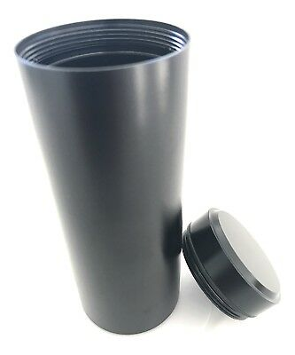 Herb Container Airtight Smell Proof Black Aluminum Stash Jar Weed Bud Storage