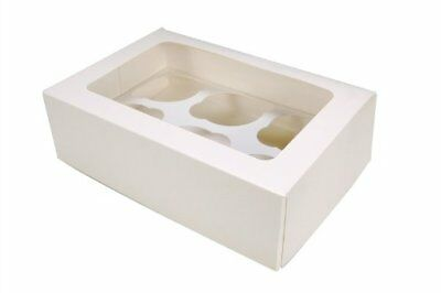 10 x 6 Cavity Cupcake boxes with see through window and inserts