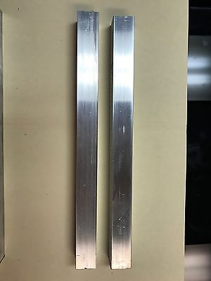 "2 Pieces Of 1""X1"" Aluminum 6061 T6511 Square Solid Bar 12"" Long New Mill Stock"