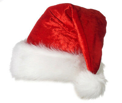 Christmas Velour Santa Claus Hat XL