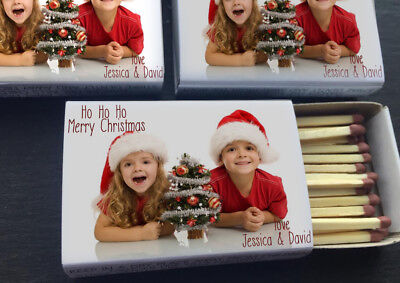 Christmas Personalised Matchboxes -  Includes Any Custom Design