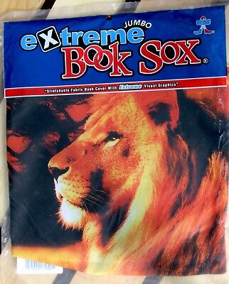 Book Sox Cover Extreme African Lion Jumbo Stretchable Fabric