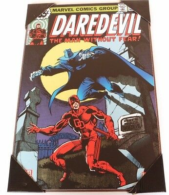 """Marvel """"Daredevil The man without fear"""" print cover poster wooden wall art 13x19"""