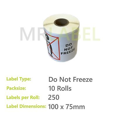 Pack of 10 - Do Not Freeze - 100 x 75 mm