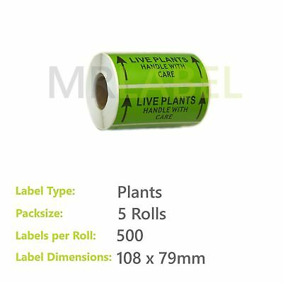 Pack of 5 - Plants - 89 x 32 mm