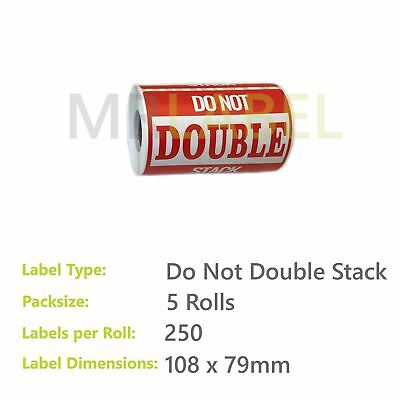 Pack of 5 - Do Not Double Stack