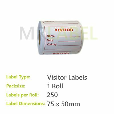 Visitor Labels - 75 x 50 mm
