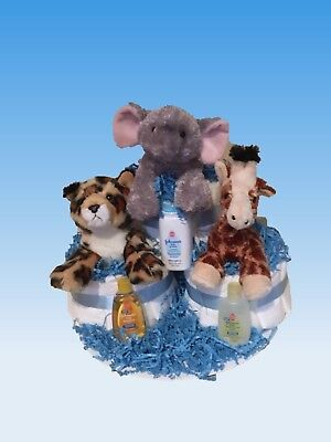 diaper cake  shower gift jungle animals
